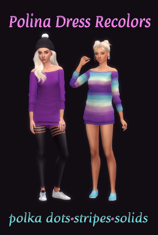 Sims 4 Polina Sweater Dress Recolors at Maimouth Sims4