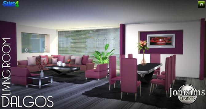 Dalgos Livingroom At Jomsims Creations 187 Sims 4 Updates