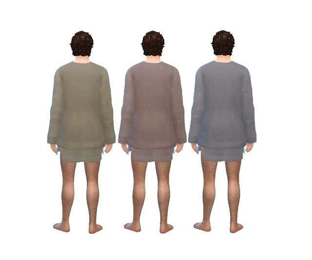 Mens Medieval Sleeping Tunic by Anni K at Historical Sims Life image 886 Sims 4 Updates