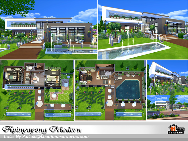 Apinyapong Modern house by autaki at TSR image 890 Sims 4 Updates