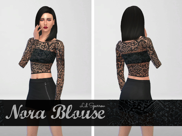 Sims 4 Nora Blouse by Lil Sparrow at TSR