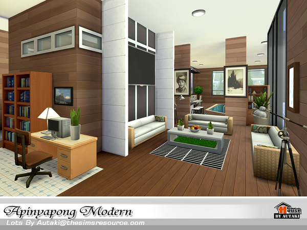 Apinyapong Modern house by autaki at TSR image 9100 Sims 4 Updates