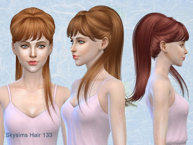 Hairstyles Updates: Skysims Hair 133 (Pay) At Butterfly Sims » Sims 4 Updates