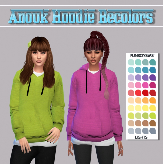 Anouk Hoodie At Maimouth Sims4 187 Sims 4 Updates
