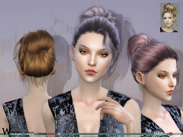 Hairstyles Updates: TTS1023 F Hair By Wings At TSR » Sims 4 Updates