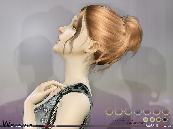 TTS1023 F hair by Wings at TSR image 9314 Sims 4 Updates