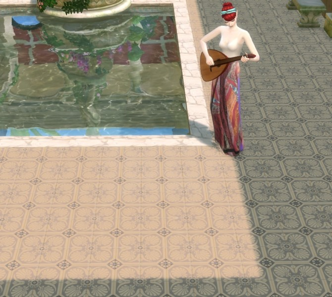 Sims 4 6 historic floor tiles by Velouriah at Mod The Sims