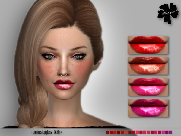 Sims 4 IMF Curious Lipgloss N.36 by IzzieMcFire at TSR