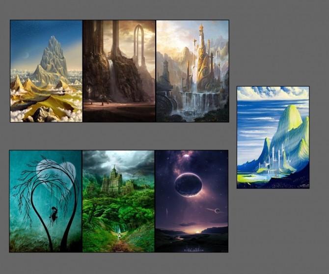 Fantasy paintings at ChiLLis Sims image 9613 670x558 Sims 4 Updates