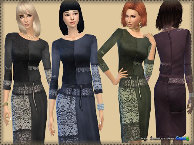 Sims 4 Patchwork Dress at Bukovka