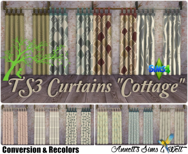 TS3 To TS4 Conversion Curtains Cottage At Annetts Sims 4 Welt