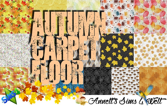 Sims 4 Autumn Carpet Floors at Annett's Sims 4 Welt