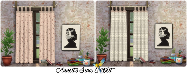 Sims 4 TS3 to TS4 Conversion Curtains Cottage at Annett's Sims 4 Welt