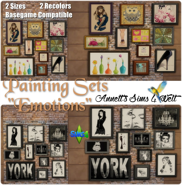 Emotions Paintings Sets at Annett's Sims 4 Welt image 1003 Sims 4 Updates