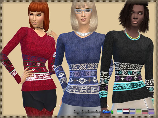 Sweater Ornament at Bukovka image 1006 Sims 4 Updates