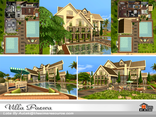 Sims 4 Villa Peawa by autaki at TSR