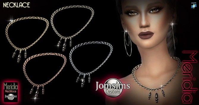 Sims 4 Meridia necklace at Jomsims Creations