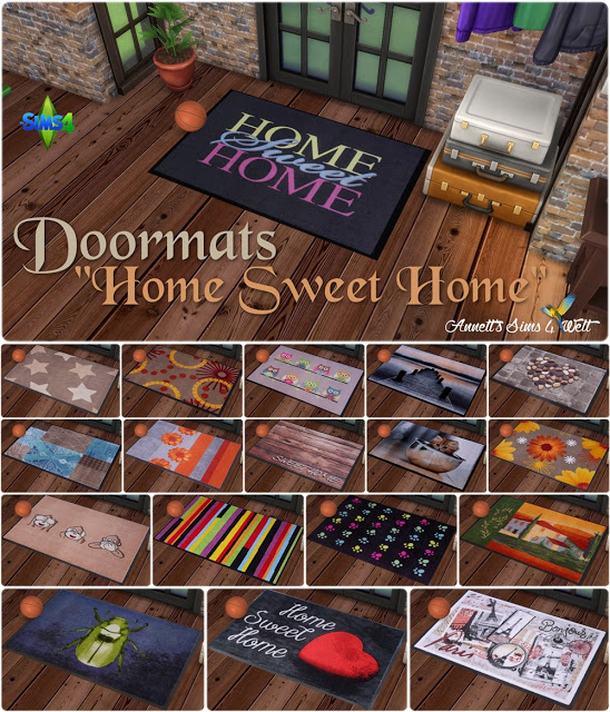 Sims 4 Home Sweet Home doormats at Annett's Sims 4 Welt