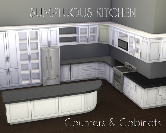 Sumptuous kitchen set by madhox at mod the sims sims 4 for Kitchen set sims 4
