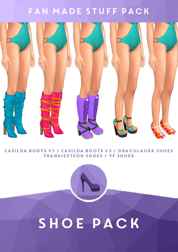 Sims 4 Shoes Pack by midnightskysims at SimsWorkshop