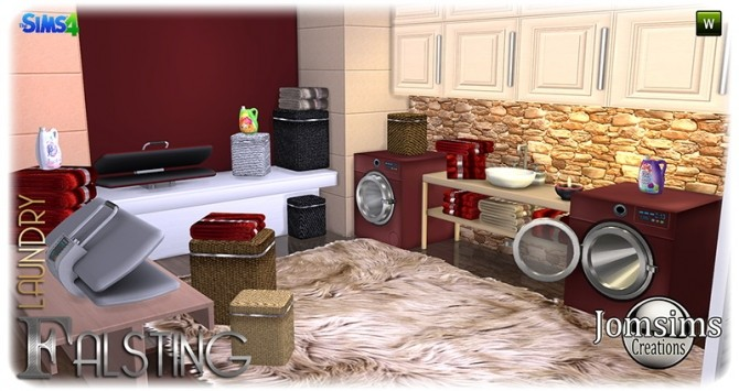 Falsting laundry at Jomsims Creations image 1085 670x355 Sims 4 Updates