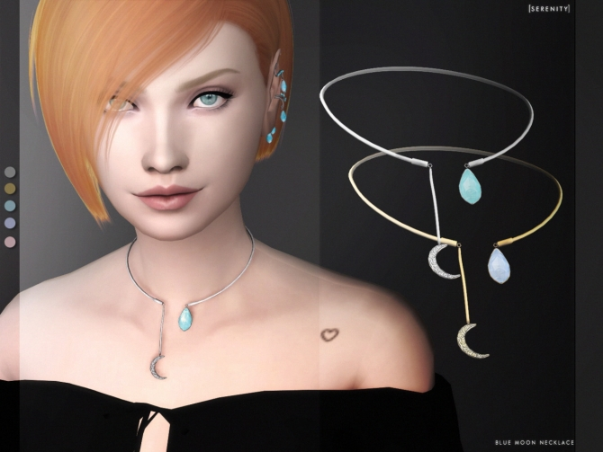 Blue Moon Necklace At Serenity 187 Sims 4 Updates