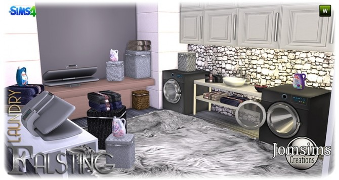 Falsting laundry at Jomsims Creations image 11010 670x355 Sims 4 Updates