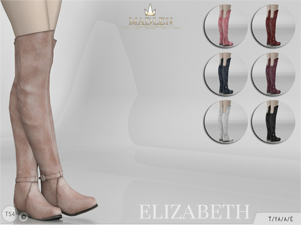Sims 4 Madlen Elizabeth Boots by MJ95 at TSR
