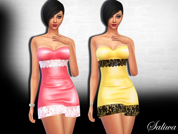 Sims 4 Diana Dress by Saliwa at TSR