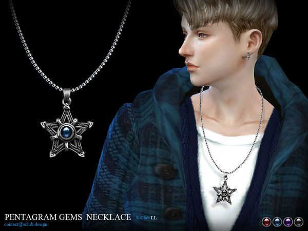 Sims 4 Necklace M05 by S Club LL at TSR