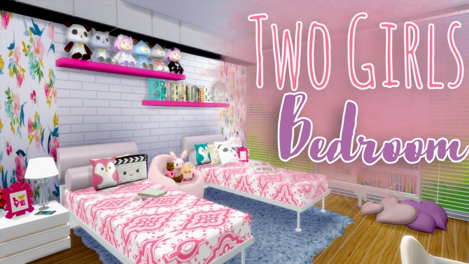 Two Girls Bedroom At Mony Sims 187 Sims 4 Updates