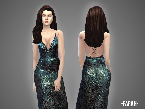 Farah gown by April at TSR image 1125 Sims 4 Updates