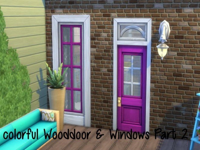 Sims 4 Colorful Wooddoor & Windows Part 2 at ChiLLis Sims