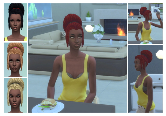 Big City Bun with Bangs at Birksches Sims Blog image 1153 Sims 4 Updates