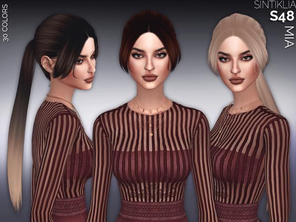 Sims 4 Hair s48 Mia by Sintiklia at TSR