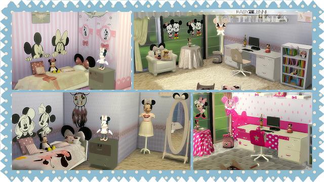 Kids Furniture Bedroom Minnie Mouse Fabyu0026Jenni (19 Items) At Jenni Sims  Image 1165 Sims ...