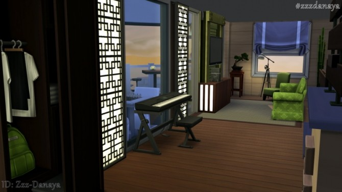 Sims 4 Zen View Apartment 702 by Zzz Danaya at ihelensims