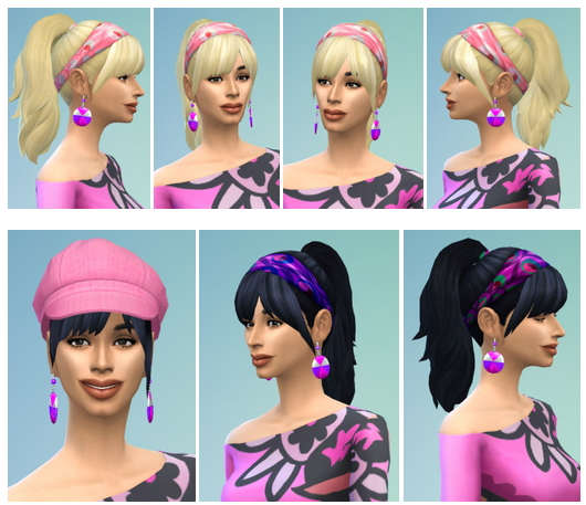 Sims 4 City Ponytail hair at Birksches Sims Blog