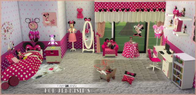 ... Kids Furniture Bedroom Minnie Mouse Fabyu0026Jenni (19 Items) At Jenni Sims  Image 1195 Sims