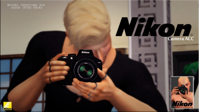Camera Nikon Acc Pose Pack At Victor Miguel 187 Sims 4 Updates