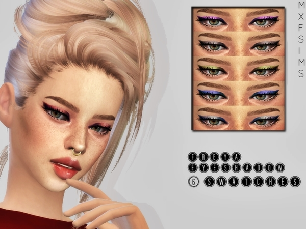 Sims 4 Freya Eyeshadow by mxfsims at TSR