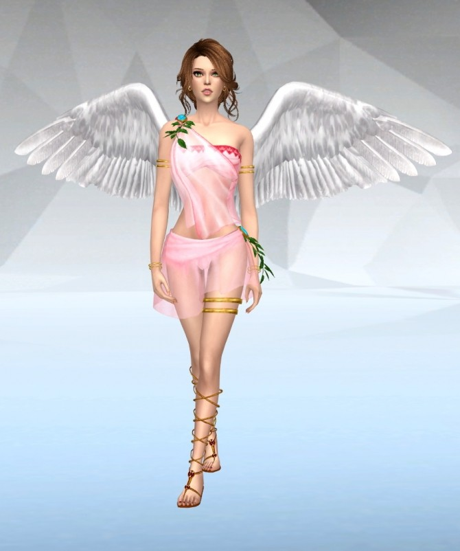 Angel Dress at SilverMoon Sims » Sims 4 Updates