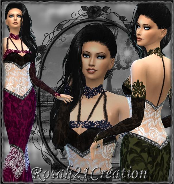 Sims 4 Dreamy dress at Sims Dentelle