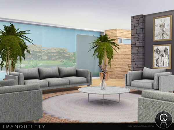 Sims 4 Tranquility house by Pralinesims at TSR