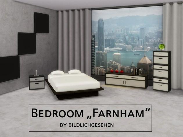 Farnham bedroom by Bildlichgesehen at Akisima image 1235 Sims 4 Updates