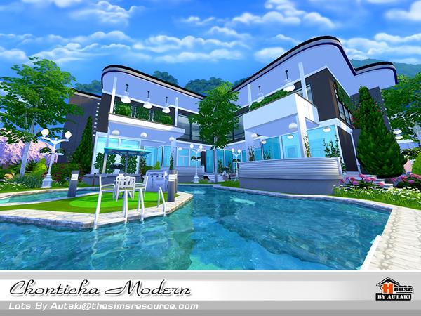 Sims 4 Chonticha Modern house by autaki at TSR