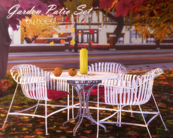Garden Patio Set at Helen Sims image 124 670x534 Sims 4 Updates