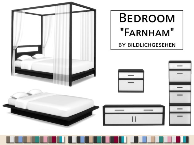 Farnham bedroom by Bildlichgesehen at Akisima image 1245 Sims 4 Updates