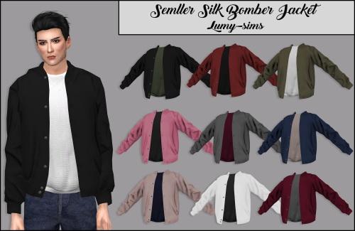 Sims 4 Semller Silk Bomber Jacket at Lumy Sims
