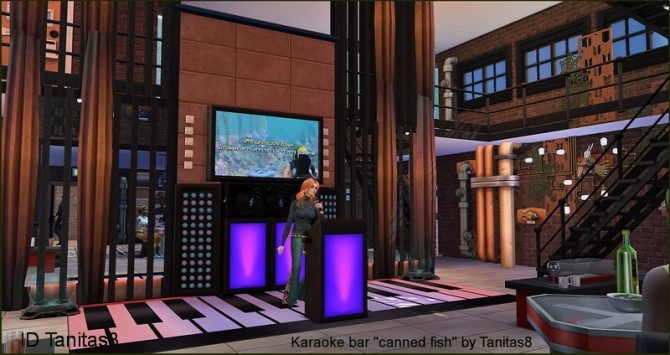 Karaoke bar canned fish NoCC at Tanitas8 Sims image 1299 670x355 Sims 4 Updates